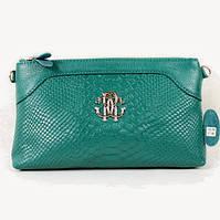 Клатч - сумка в стиле Roberto Cavalli (бирюзовый цвет), фото 1