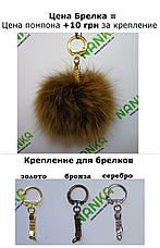 Хутряний помпон Кролик, Т. Шоколад, 9 см, пара 4459, фото 3