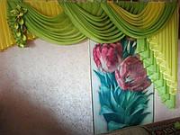 Ламбрекен Нежность салатно-желтый 3 м