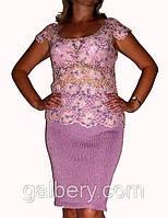 Вязаная летняя блуза большого размера