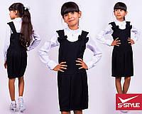 Милый сарафан для модницы в школу