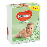 Влажные салфетки HUGGIES Natural Care 4x56шт (224шт)