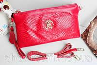 Клатч - сумка в стиле Roberto Cavalli (малиновый цвет)