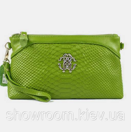 Клатч - сумка в стиле Roberto Cavalli (салатовый цвет)