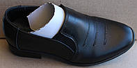 Школьные туфли кожаныедля мальчика, кожаная подростковая обувь от производителя модель А-02