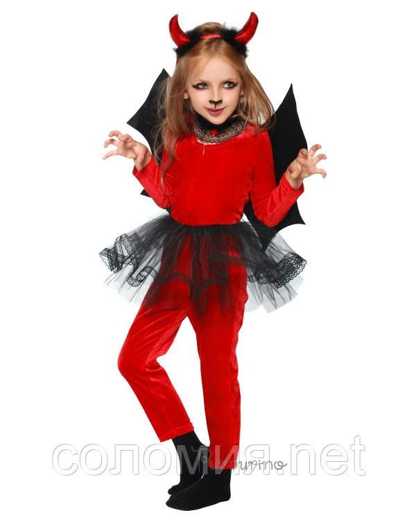 Детский костюм для девочки Чертенок - девочка