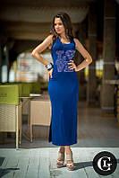 Молодежное летнее длинное платье майка с разрезами, Турция