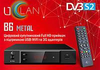 Спутниковый ресивер UClan B6 Full HD Metal с функцией IPTV и медиаплеера.