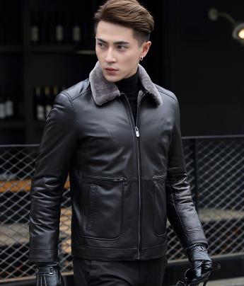 9d17dda82a735 Мужская зимняя кожаная куртка. Модель 6190 - Интернет-магазин