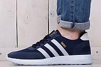 Кроссовки мужские Adidas Iniki Blue (реплика)