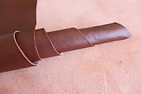 Кожа натуральная для производства обуви из шкур КРС коричневая арт. СК 1158