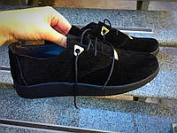 Туфли на низком ходу Roberto натуральный замш черные