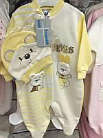 Бодик, костюм для девочки, желтый
