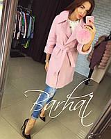 Женское пальто кашемировое на запах осень 2017