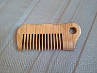 Гребень для волос из бука с редкими зубьями