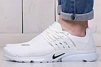 Мужские летние кроссовки Nike Air Presto White (найк, реплика) (реплика)