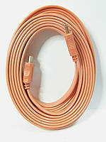Шнур HDMI-HDMI, плоский кабель, gold, 5м, оранжевый (в блистере), фото 1