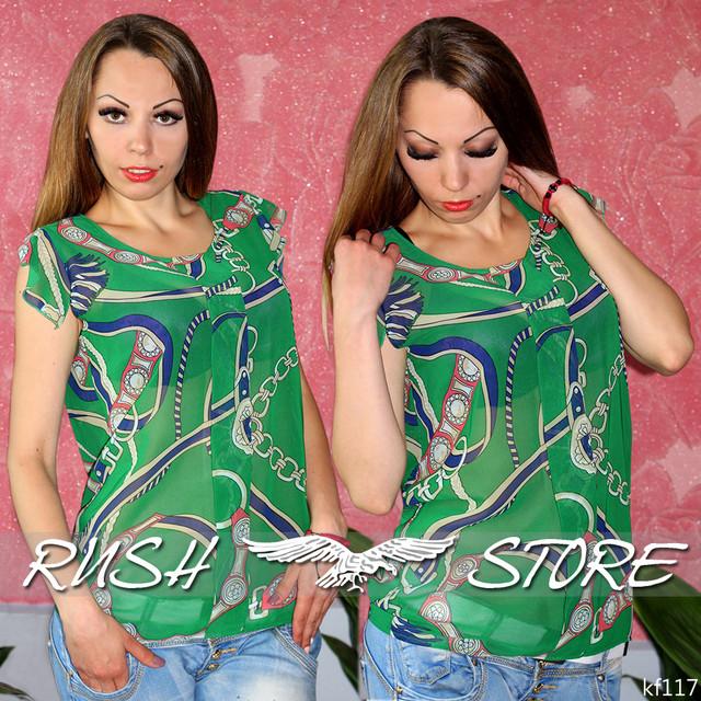 Шифоновая блузка женская
