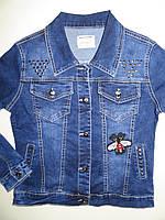 Джинсовая курточка для девочек Seagull оптом ,134-164 рр., фото 1