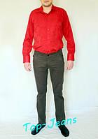 Мужские котоновые брюки Stravt светло-коричневые