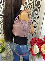 Сумка-торба женская, материал - эко-кожа, цвет - сиреневый