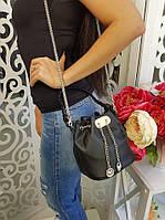 Сумка-торба женская, материал - эко-кожа, цвет - черный
