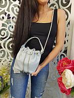 Сумка-торба женская, материал - эко-кожа, цвет - серый