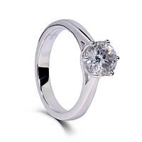 Кольцо 950 Муассанит - бриллиант 0.5 ct Размер 17