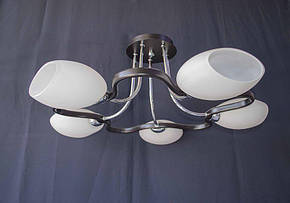Люстра на 5 лампочек. P3- 1310/5C  (BK+CR+MK), фото 2