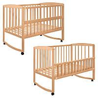Детская деревянная кроватка 2659 Гойдалка