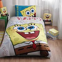 Постельное белье подростковое TAC Disney 160х220 -  Sponge Bob Happy