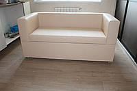 Кухонная мягкая скамейка с ящиком (Кремовая)