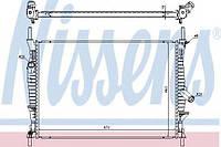 Радиатор охлаждения двигателя Ford Transit (Форд Транзит) 06-14