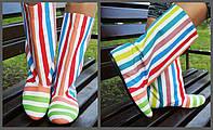 Цветные яркие женские стильные тканевые сапожки Радуга весна/осень. Арт-0680