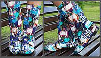Цветные яркие женские стильные тканевые сапожки Сумочки весна/осень. Арт-0681