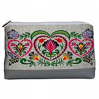 Женская Косметичка тканевая орнамент цветы