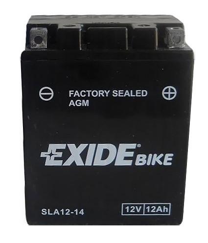 Аккумулятор залитый и заряженный AGM 12Ah 210A EXIDE SLA12-14 = AGM12-14