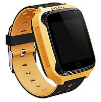 Детские умные часы G900A Yellow с GPS трекером (сенсорный дисплей 1.44 ''; динамик, микрофон, встроенная камер