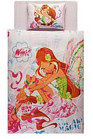 Постельное белье подростковое TAC Disney 160х220 -  Winx Harmonix Flora