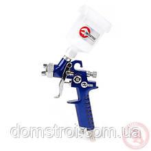Пистолет покрасочный пневматический HVLP мини , форсунка 0,8 мм, верхняя подача, бачок 125 мл. 3,0 бар INTERTO
