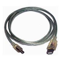 Шнур шт.USB А -шт.mini USB 5pin v2.0, диам.-5мм., 2м., прозрачный