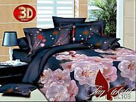 Комплект постельного белья 3D PS-BL103 евро (TAG polisatin-057е)