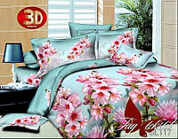 Комплект постельного белья 3D PS-BL117 евро (TAG polisatin-058е)