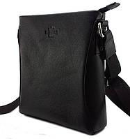 S-9057 DIZAR сумка кожа черная+гладкая
