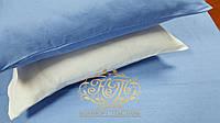 Постельное белье Бело-голубой микс, лен , фото 1