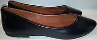 Балетки женские кожаные р35-40 MIRALIN 315 черные TONI