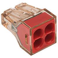Экспресс-клемма для распред. коробок на 4 проводника, 1-2,5мм2