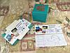Коробка Бирюзовая для 1-ого кекса с окном  100*100*90