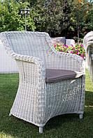 Кресло Матиник из искусственного ротанга белое, фото 1