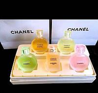 Подарочный набор парфюмов CHANEL (5 шт. по 8,5 мл) розовая коробка